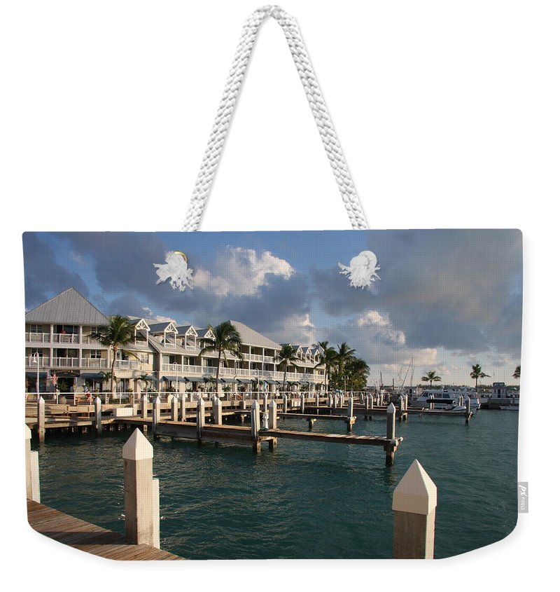 Bayfront Weekender Tote Bag featuring the photograph Waterfront Key West by Christiane Schulze Art And Photography