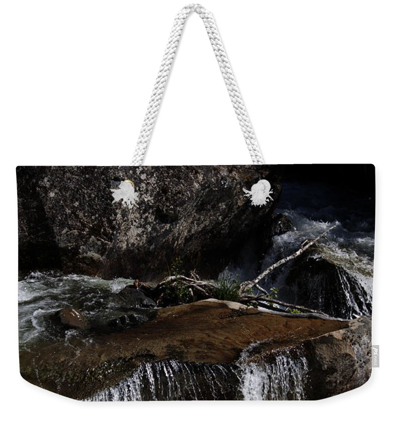 River Weekender Tote Bag featuring the photograph Water's Flow by Edward Hawkins II