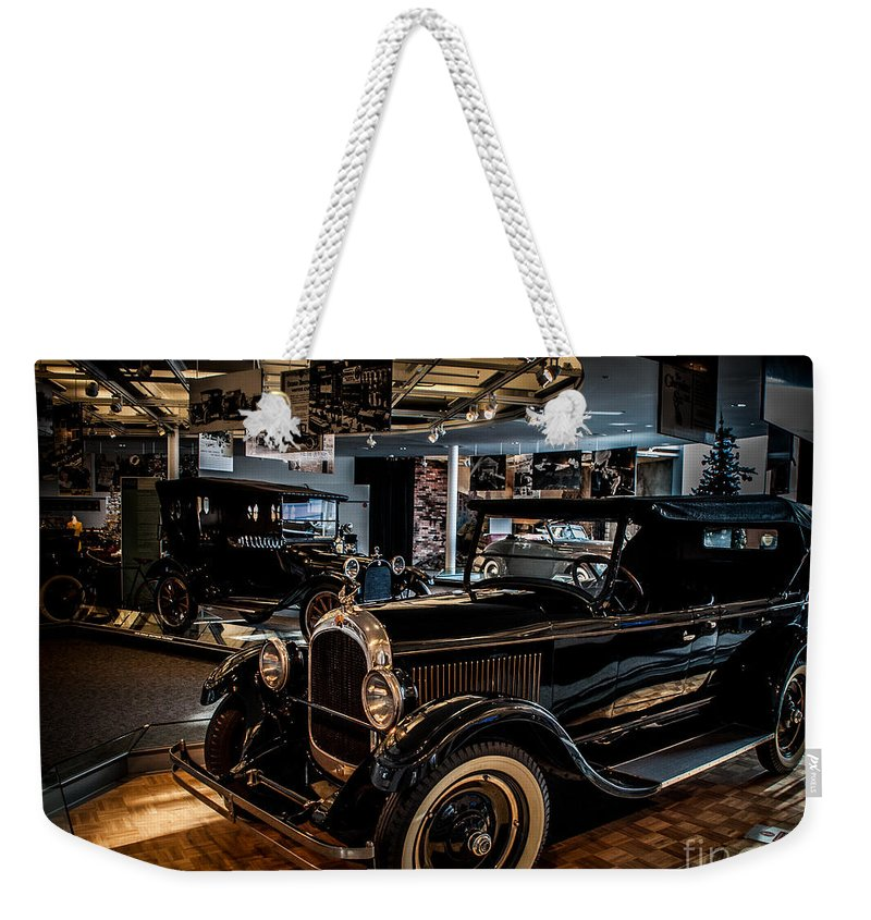 Auto Weekender Tote Bag featuring the photograph Watler P Chrysler Museum 2 by Ronald Grogan