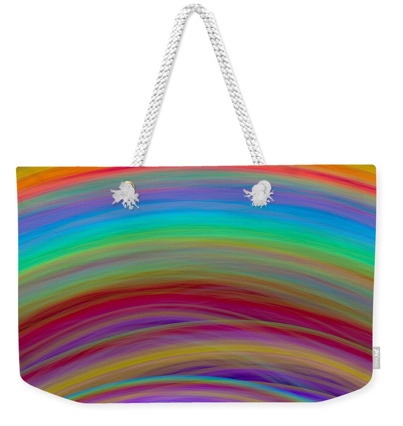 Wave Weekender Tote Bag featuring the digital art Wave-06 by RochVanh