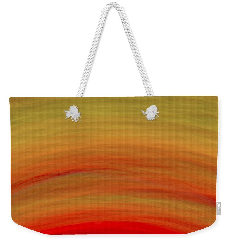 Wave Weekender Tote Bag featuring the digital art Wave-07 by RochVanh