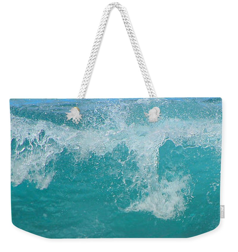 Waves Weekender Tote Bag featuring the photograph Wave by Kris Hiemstra