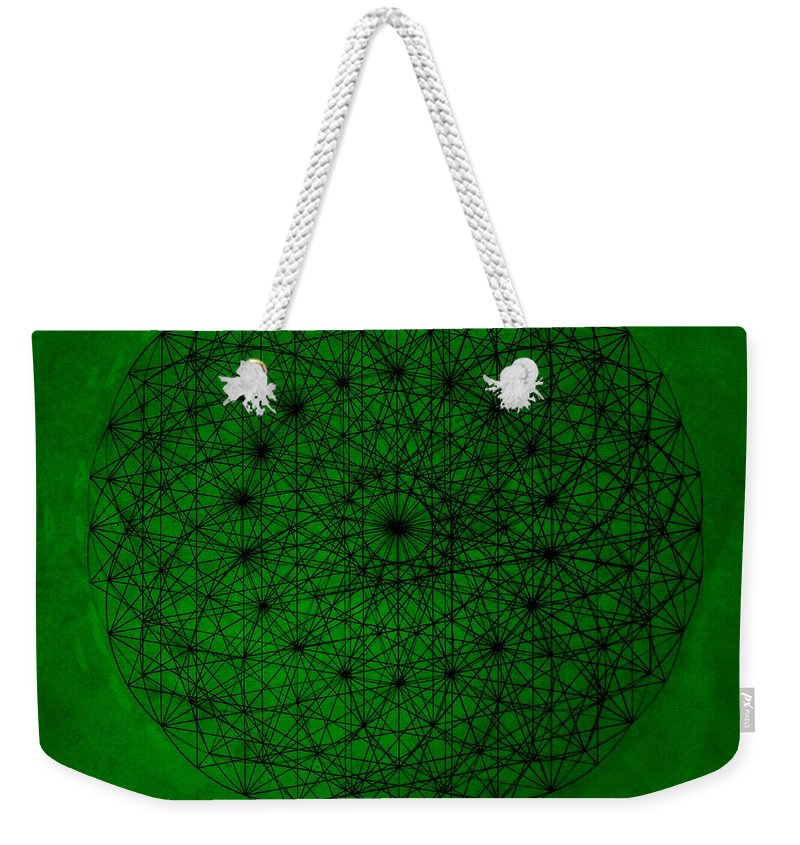 Fractal Weekender Tote Bag featuring the drawing Wave Particle Duality by Jason Padgett
