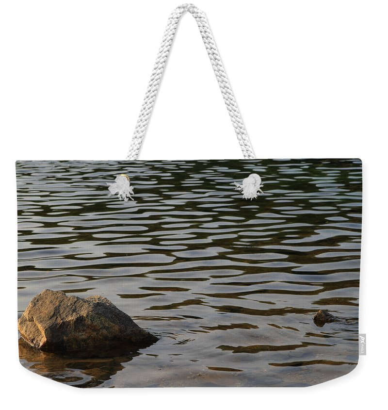 Morning Weekender Tote Bag featuring the photograph Wave Pattern by John Lan