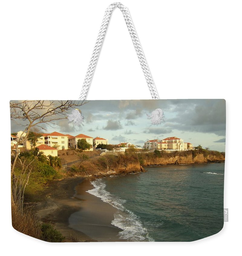 Weekender Tote Bag featuring the photograph Waves And Sgu by Katerina Naumenko
