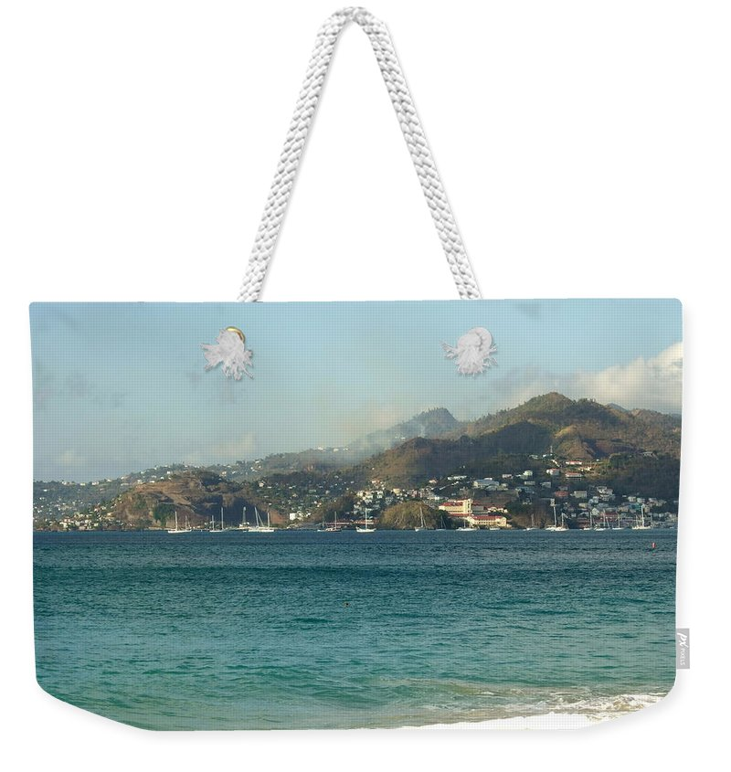 Weekender Tote Bag featuring the photograph Waves And Sky by Katerina Naumenko