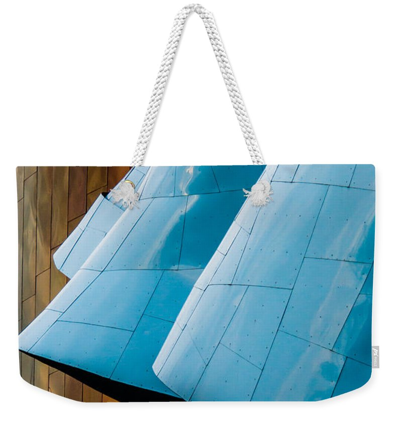 2008 Weekender Tote Bag featuring the photograph Waves Of Blue by Melinda Ledsome