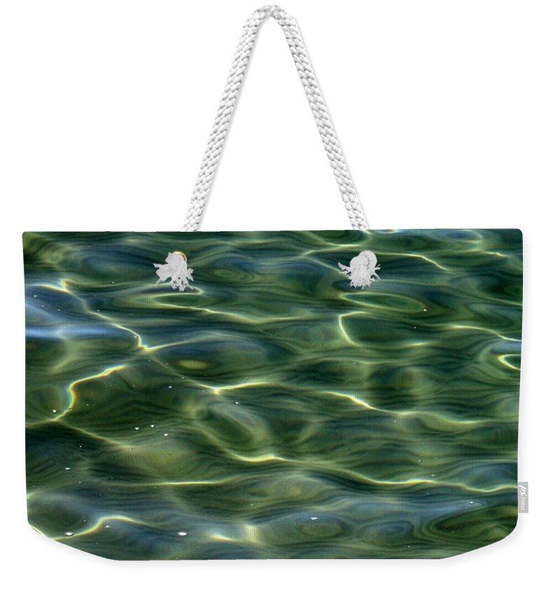 Water Weekender Tote Bag featuring the photograph Waves On Lake Tahoe by Carol Groenen