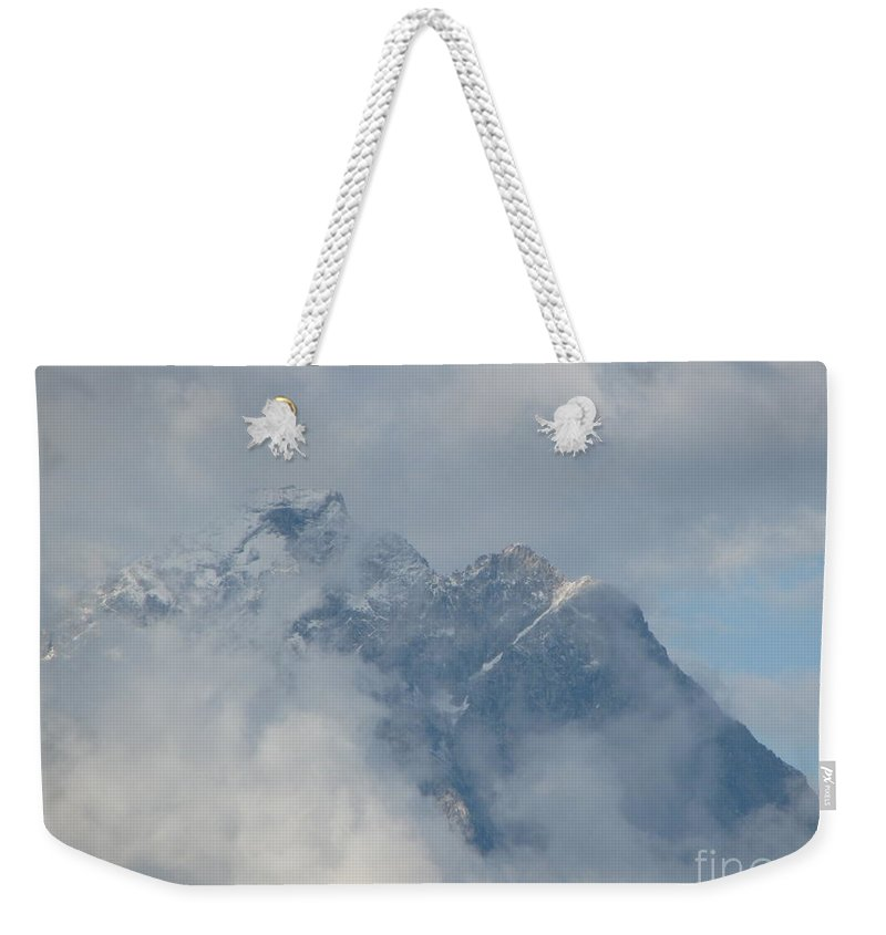 Patzer Weekender Tote Bag featuring the photograph Way Up Here by Greg Patzer