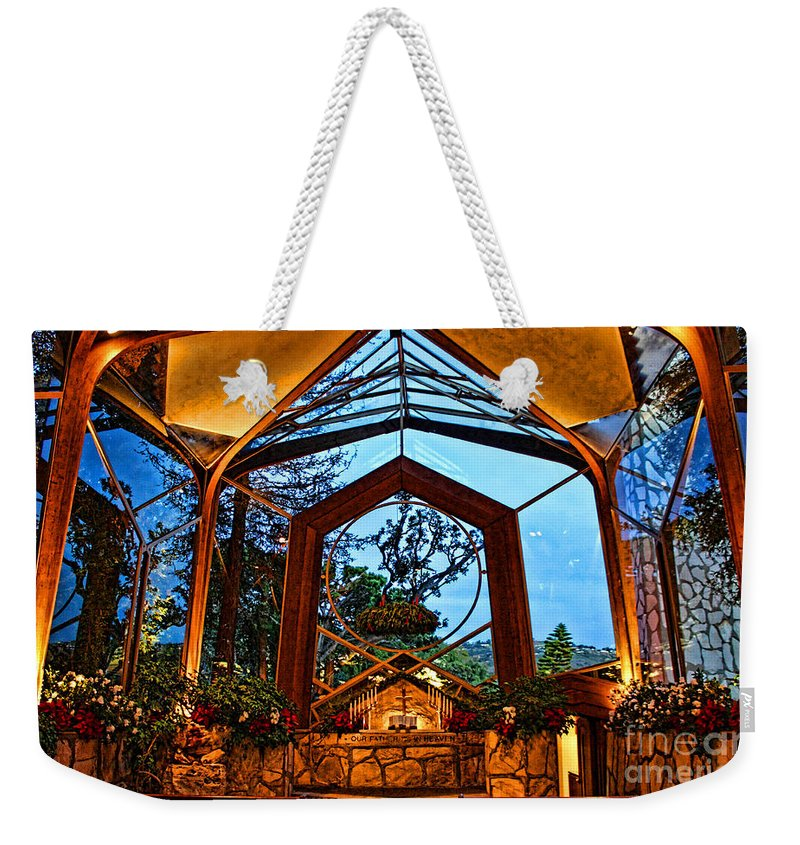 Southern California's Weekender Tote Bag featuring the photograph wayfarers Chapel 8 by Tommy Anderson