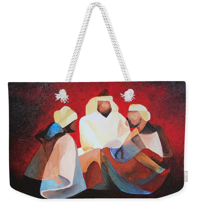Weekender Tote Bag featuring the painting We Three Kings by Taiche Acrylic Art