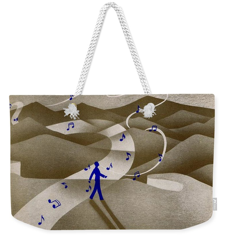Nostalgia Weekender Tote Bag featuring the photograph We Three by Mel Thompson