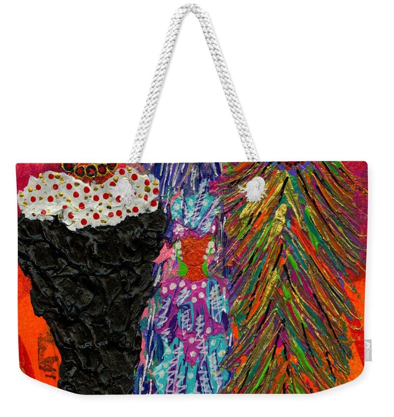 Women Weekender Tote Bag featuring the painting We Women Folk by Angela L Walker