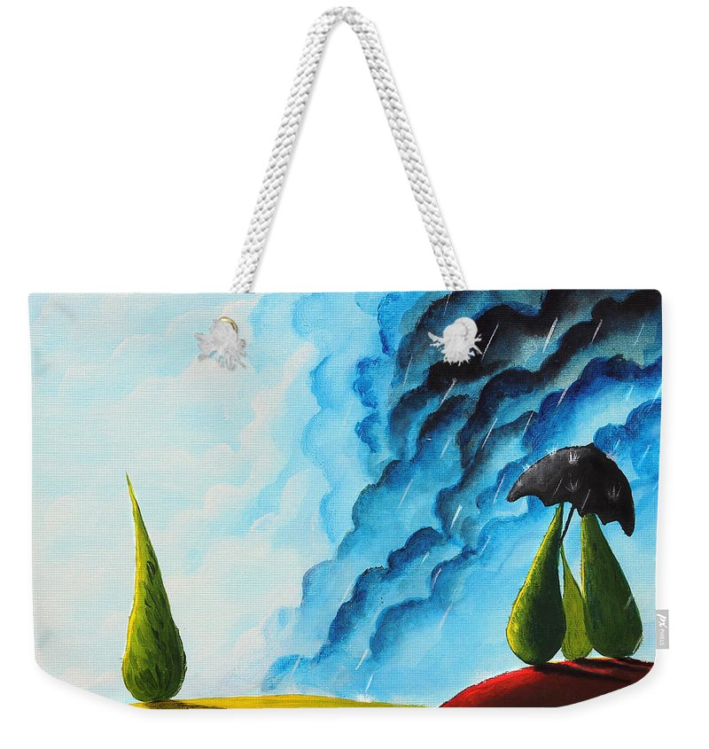 Christmas Weekender Tote Bag featuring the painting Weather Change by Nirdesha Munasinghe