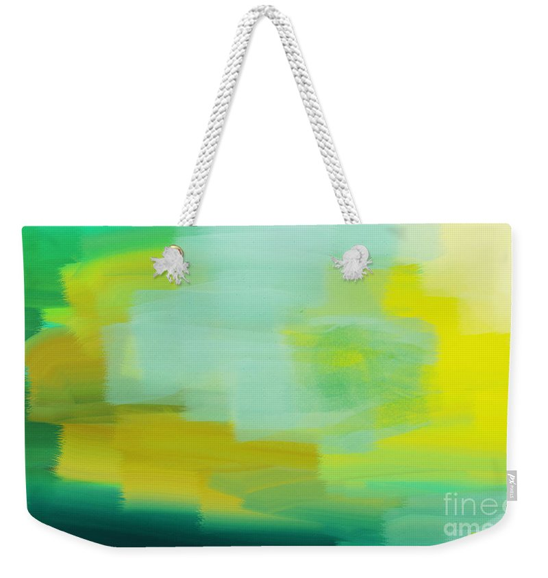 Abstract Weekender Tote Bag featuring the digital art Weather The Abstract Point Of View - Meteorologist - Meteorology by Andee Design