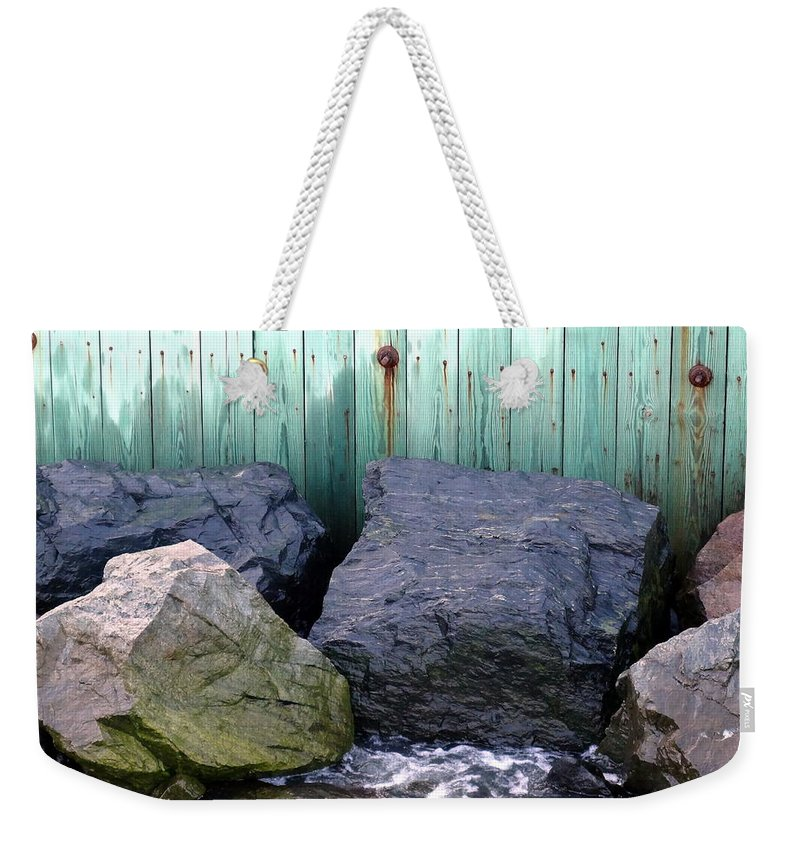 Rocks Weekender Tote Bag featuring the photograph Weatherbeaten by Deborah Crew-Johnson