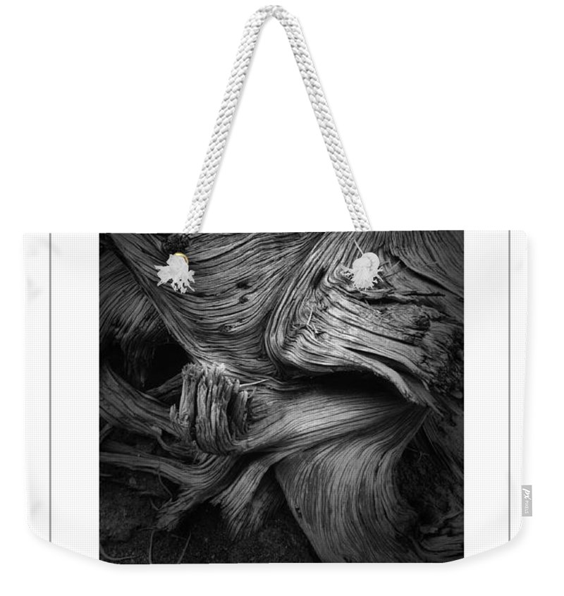 Wood Weekender Tote Bag featuring the photograph Weathered Poster by Mike Nellums