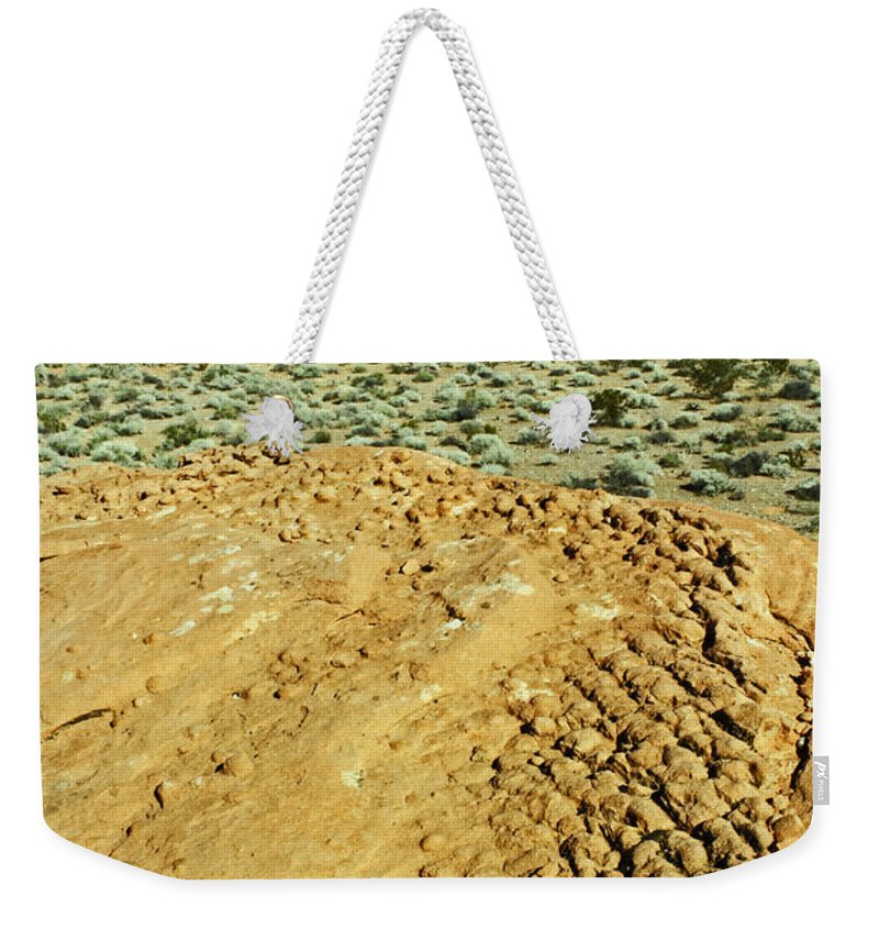 Nevada Weekender Tote Bag featuring the photograph Weathered Rock by Jennifer Robin