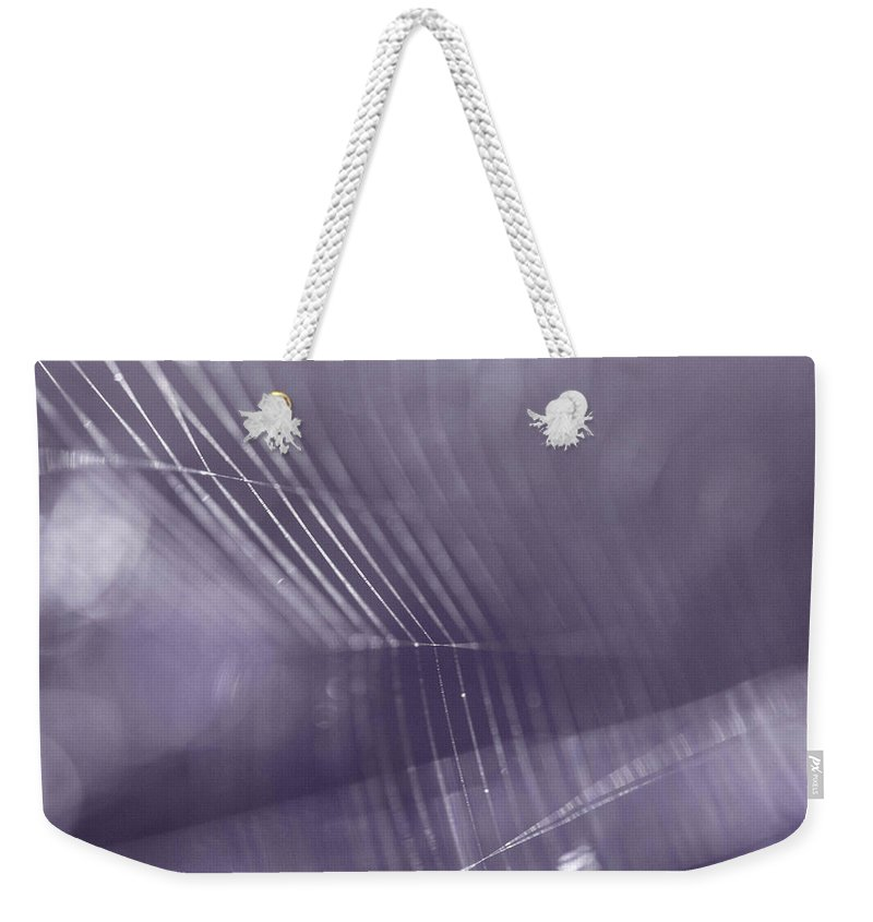 Macro Weekender Tote Bag featuring the photograph Web Abstract by Danielle Silveira