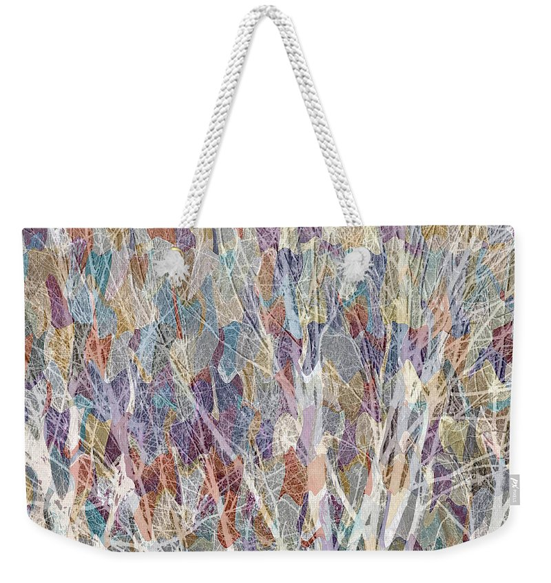 Trees Weekender Tote Bag featuring the mixed media Web Of Branches by Ruth Palmer