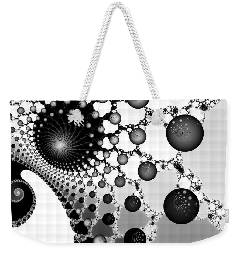 Fractal Weekender Tote Bag featuring the digital art Web Of Worlds by Christy Leigh