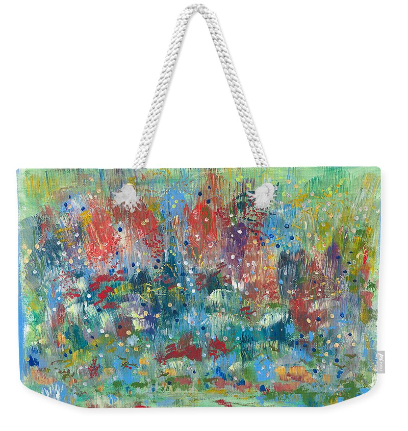 Contemporary Weekender Tote Bag featuring the painting Weeds by Bjorn Sjogren
