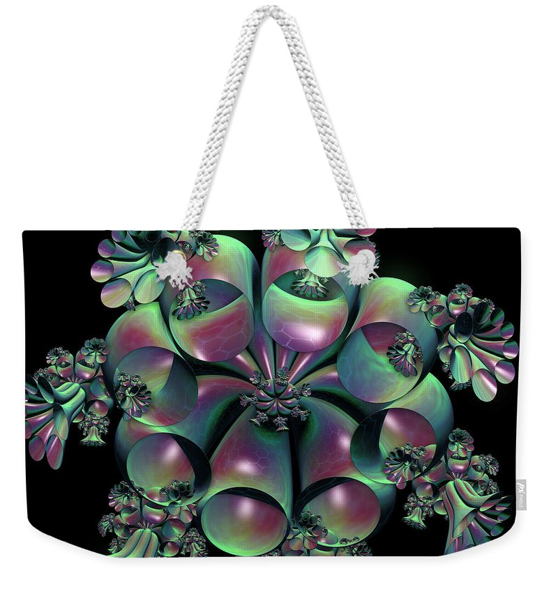 Bells Weekender Tote Bag featuring the digital art Weeping Bells by Sara Raber