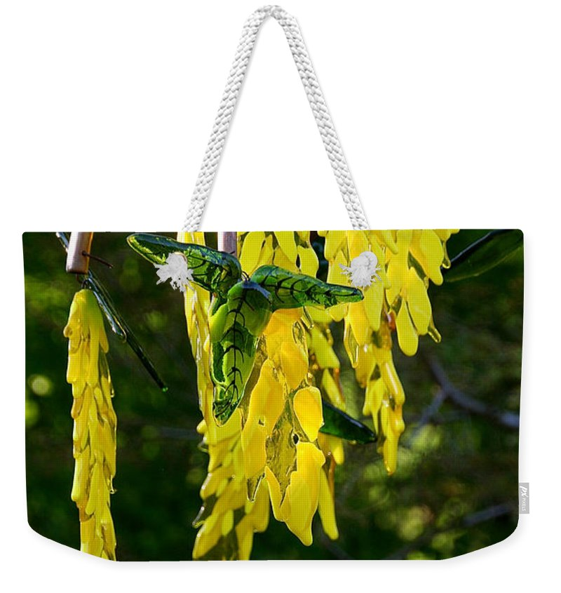 Glass Weekender Tote Bag featuring the photograph Weeping Tree by Susan Herber