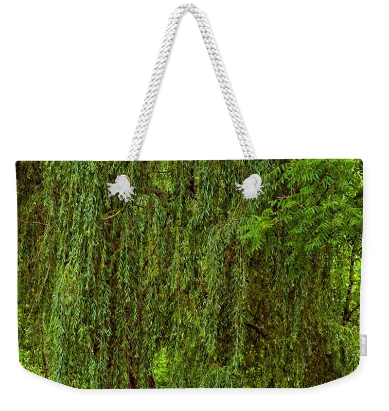 Willow Weekender Tote Bag featuring the photograph Weeping Willow by Steve Harrington