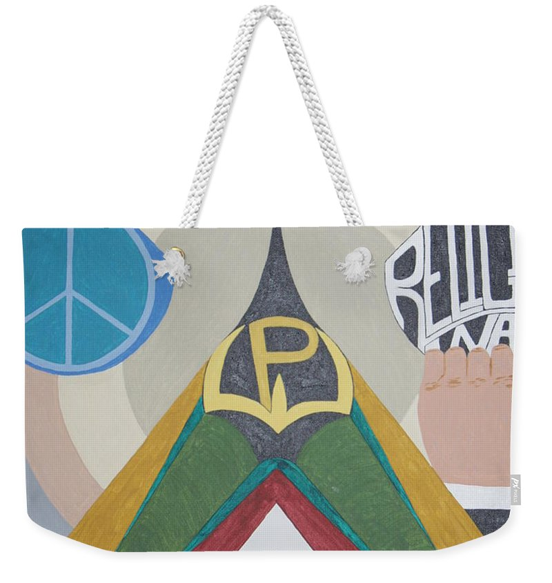 Peace Weekender Tote Bag featuring the painting Weighing Peace by Dean Stephens