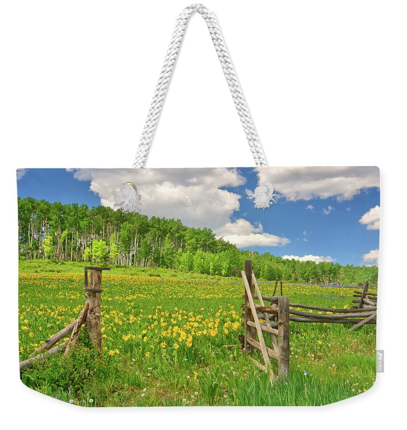 Tranquility Weekender Tote Bag featuring the photograph Welcome To Heaven On Earth by Amy Hudechek