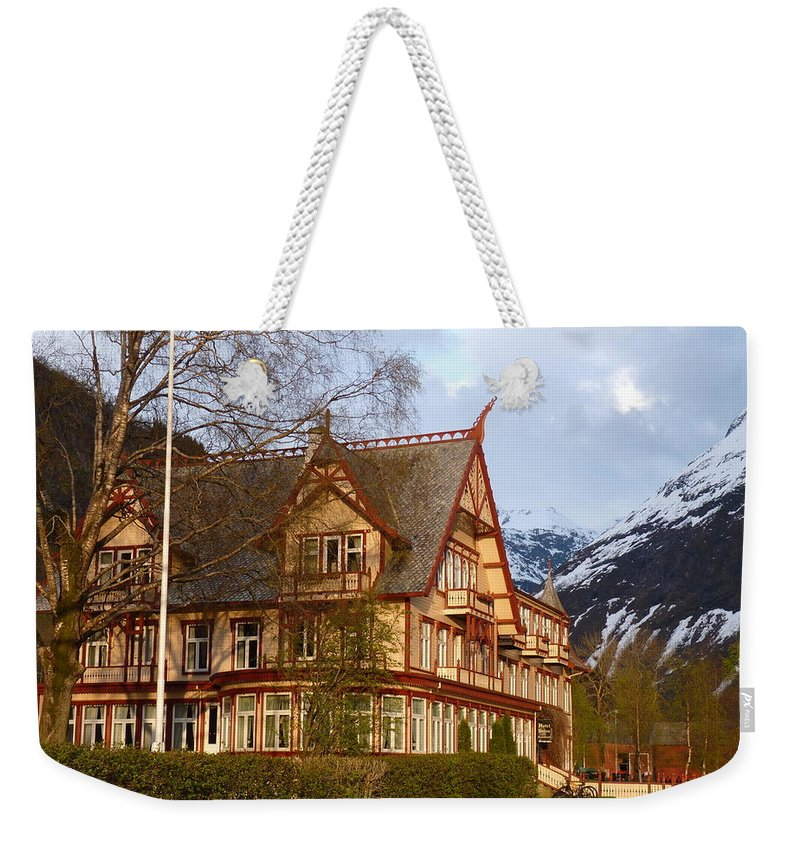 Weekender Tote Bag featuring the photograph Welcome To Hotel Union Oye by Katerina Naumenko