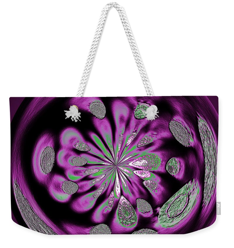 Welding Rods Weekender Tote Bag featuring the digital art Welding Rods Abstract 5 by Ernie Echols