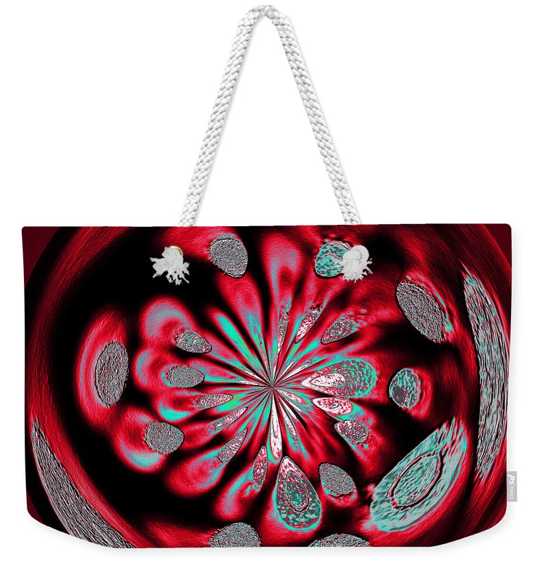 Welding Rods Weekender Tote Bag featuring the digital art Welding Rods Abstract 6 by Ernie Echols
