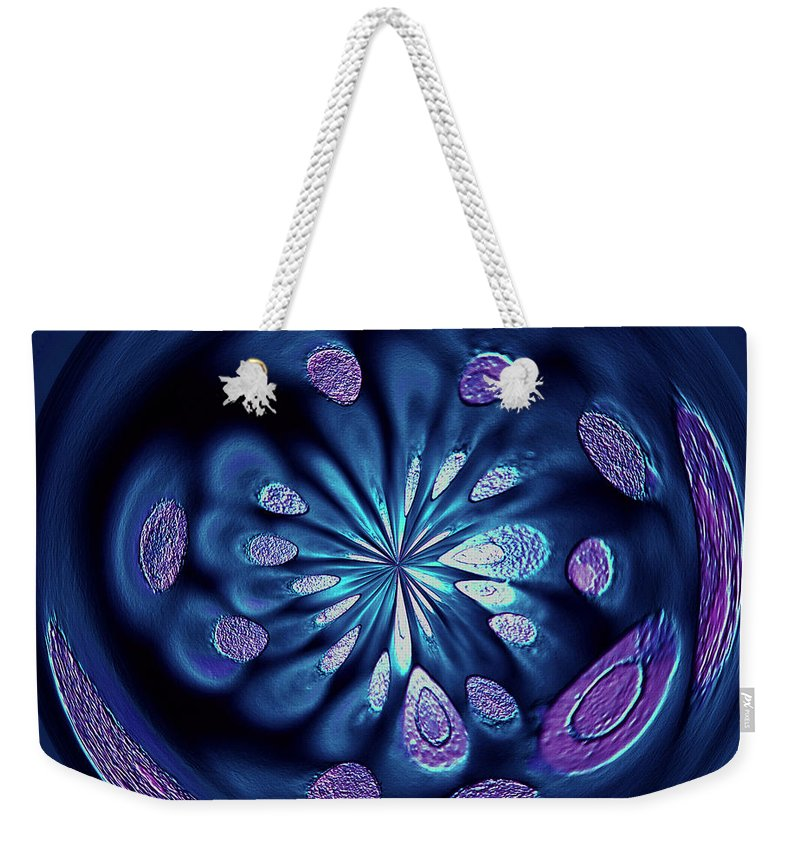 Welding Rods Weekender Tote Bag featuring the digital art Welding Rods Abstract 7 by Ernie Echols