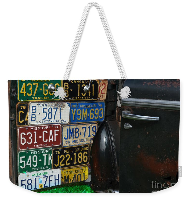 Well Travelled Door Weekender Tote Bag featuring the photograph Well Traveled Door by Luther Fine Art