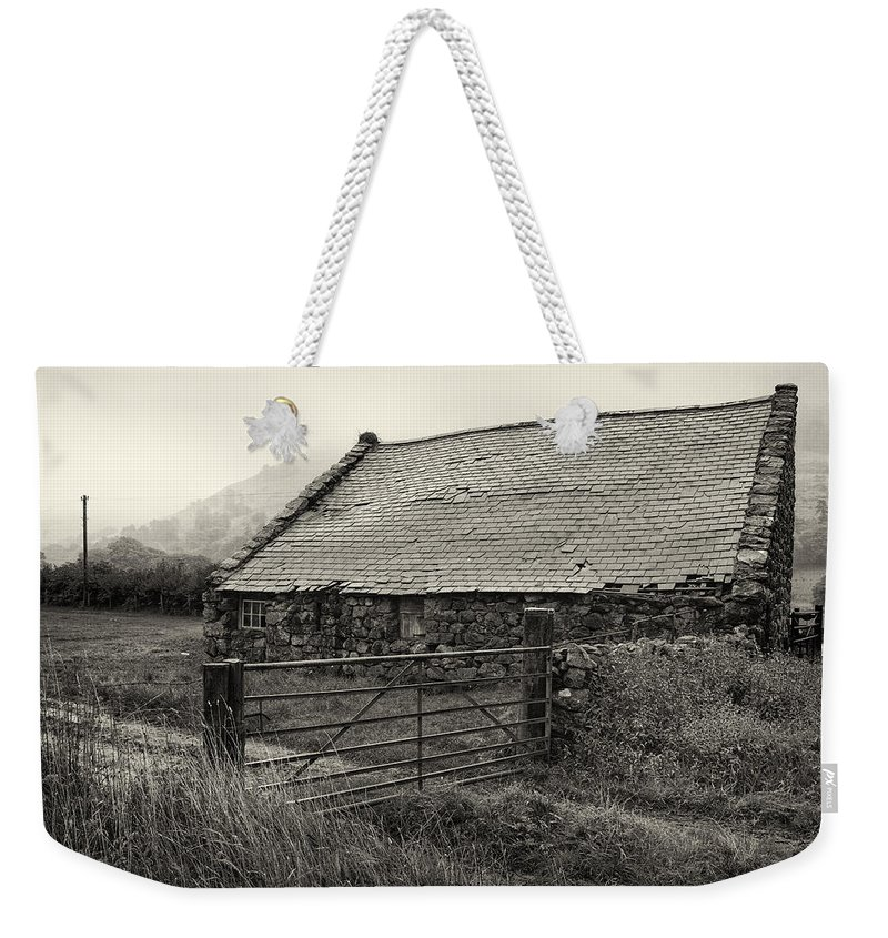 Wales Weekender Tote Bag featuring the photograph Welsh Farm Building by Fran Gallogly