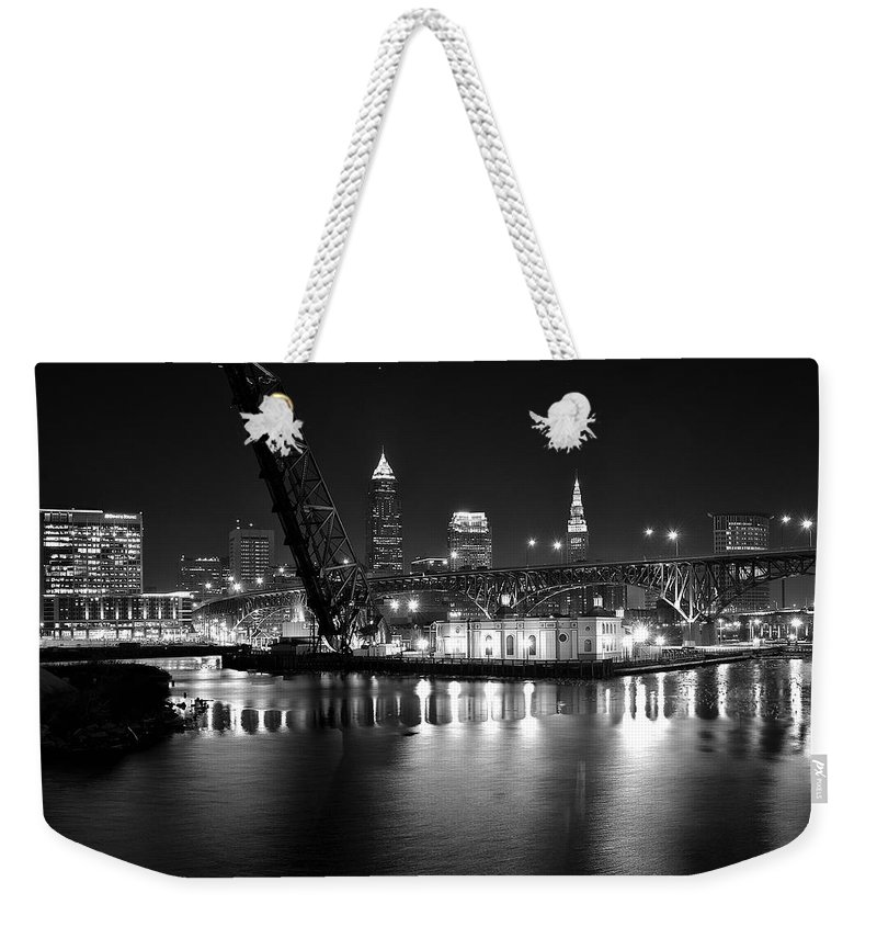 Desolate Weekender Tote Bag featuring the photograph West Bank Of The Flats by Frozen in Time Fine Art Photography