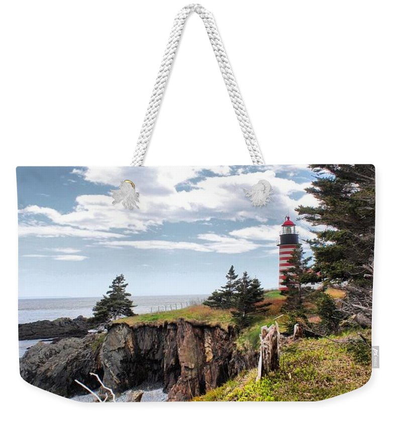 Father's Day Weekender Tote Bag featuring the photograph West Quoddy 4037 by Joseph Marquis