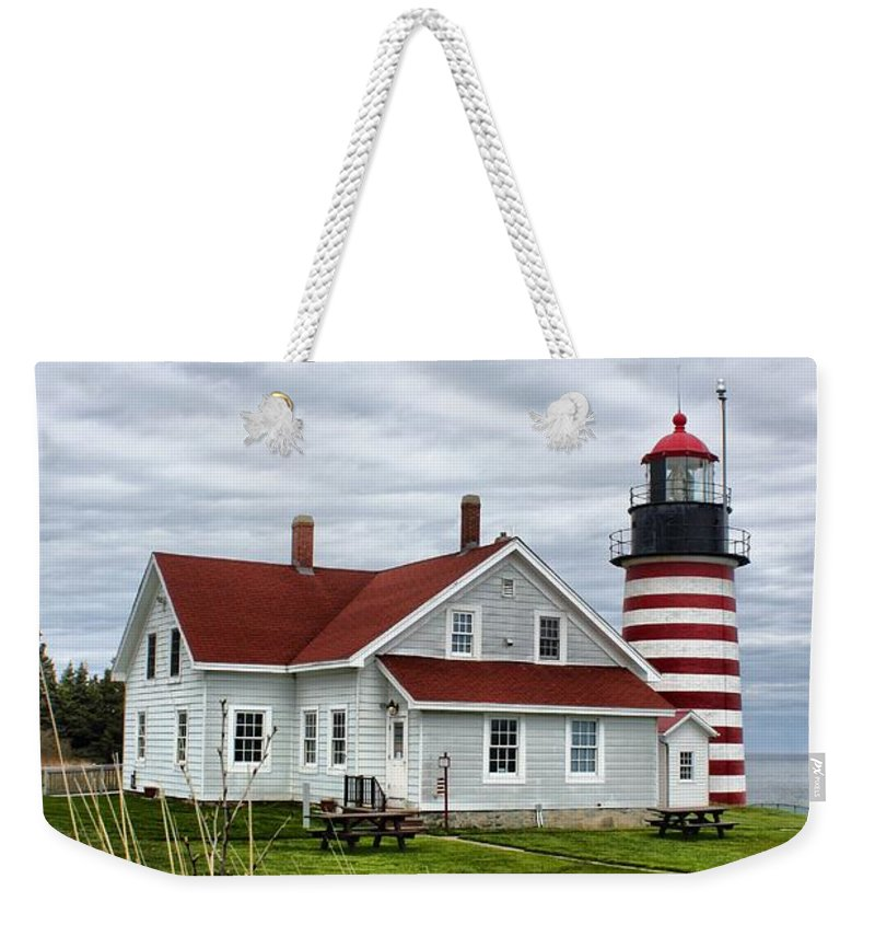 Father's Day Weekender Tote Bag featuring the photograph West Quoddy 4214 by Joseph Marquis