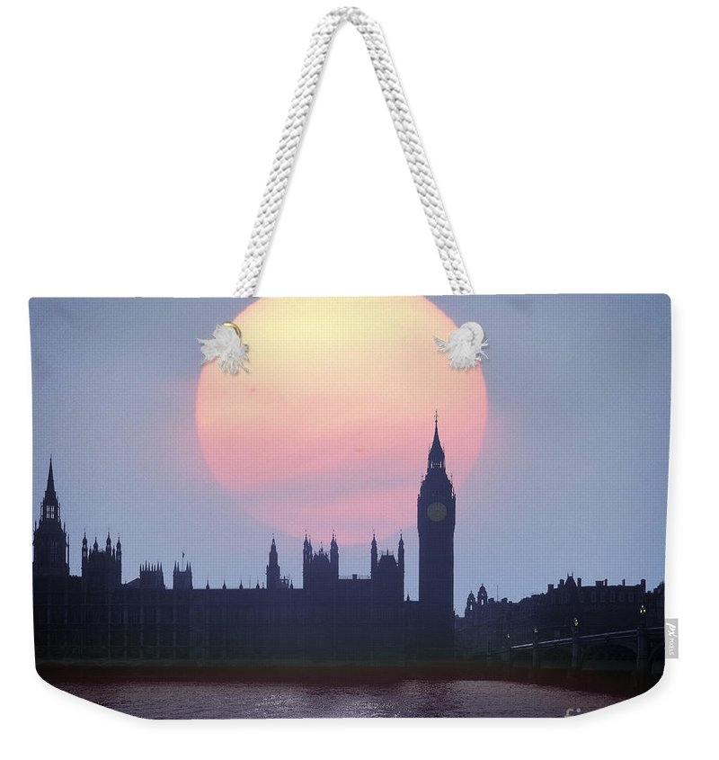 Sunset Weekender Tote Bag featuring the photograph Westminster Hour by Edmund Nagele