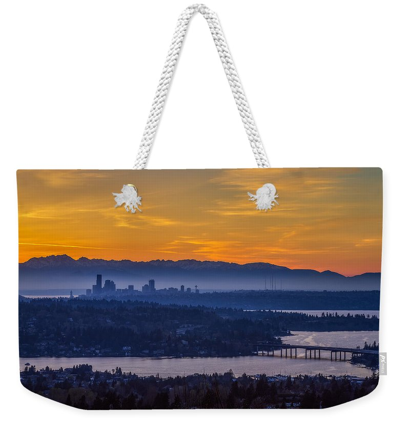 Seattle Weekender Tote Bag featuring the photograph Gateway To Seattle by Ken Stanback