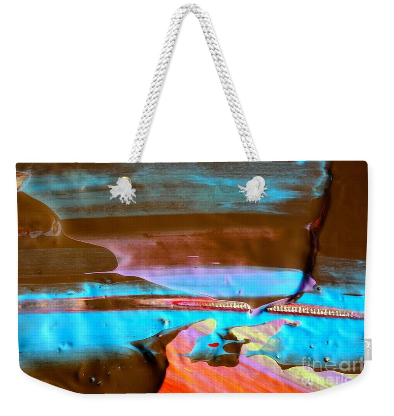 Paint Weekender Tote Bag featuring the photograph Wet Paint 73 by Jacqueline Athmann