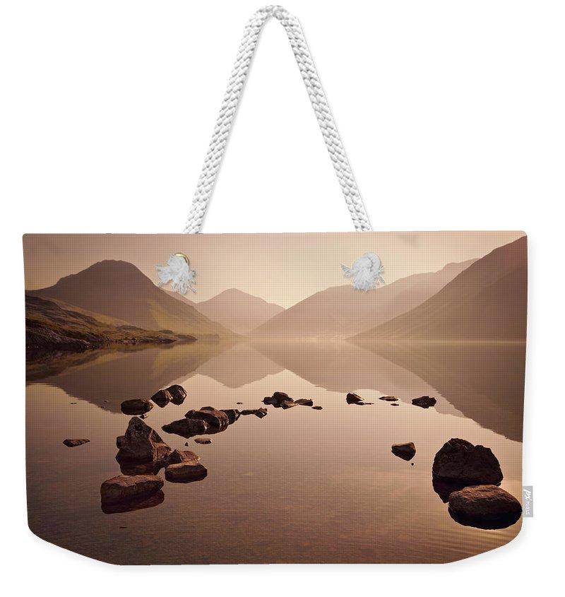 Morning Mist Weekender Tote Bags