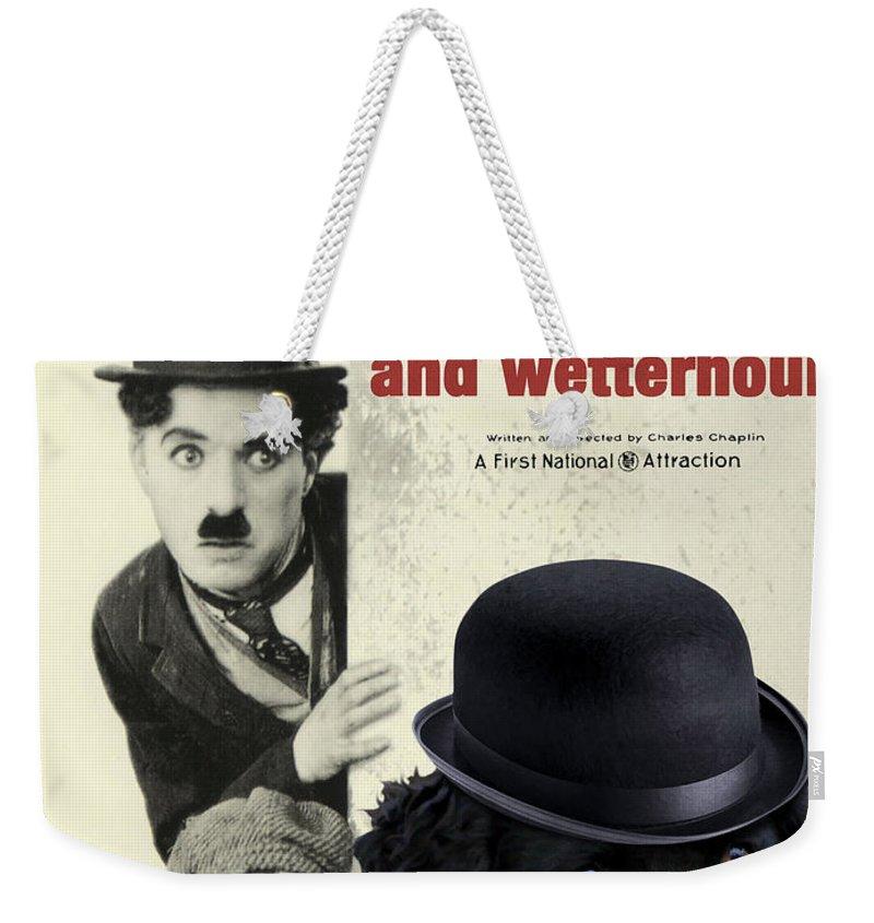 Wetterhoun Weekender Tote Bag featuring the painting Wetterhoun-frisian Water Dog Art Canvas Print - The Kid Movie Poster by Sandra Sij