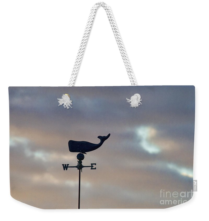 Weather Vane Weekender Tote Bag featuring the photograph Whale Weather Vane by David Arment