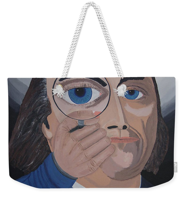 Historical Weekender Tote Bag featuring the painting What Have You Done by Dean Stephens