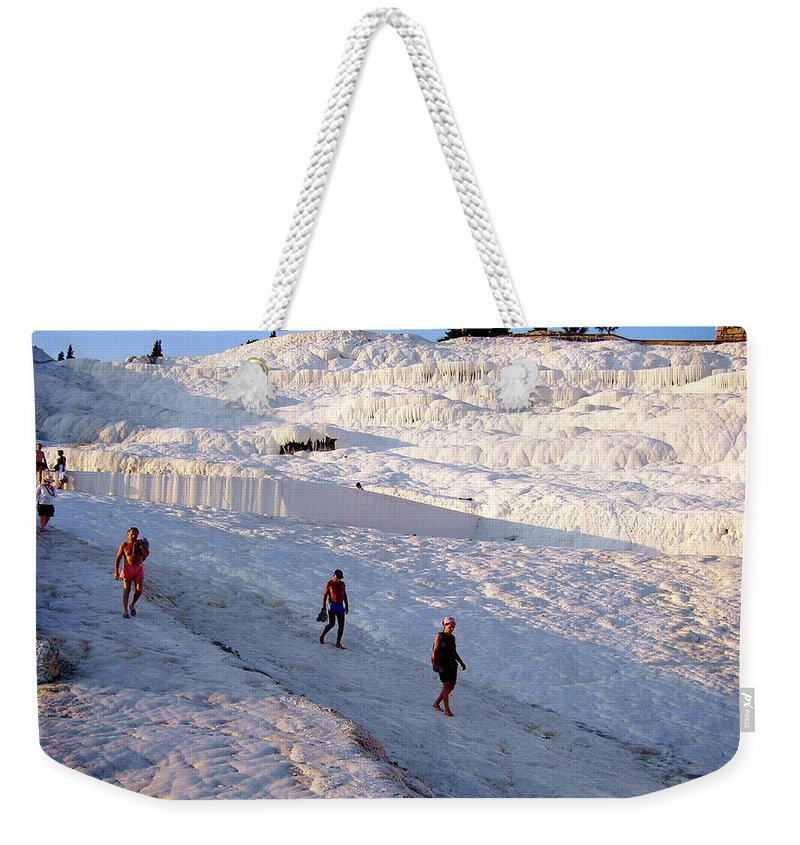 Pamukkale Weekender Tote Bag featuring the photograph What Is Wrong In This Picture by Zafer Gurel