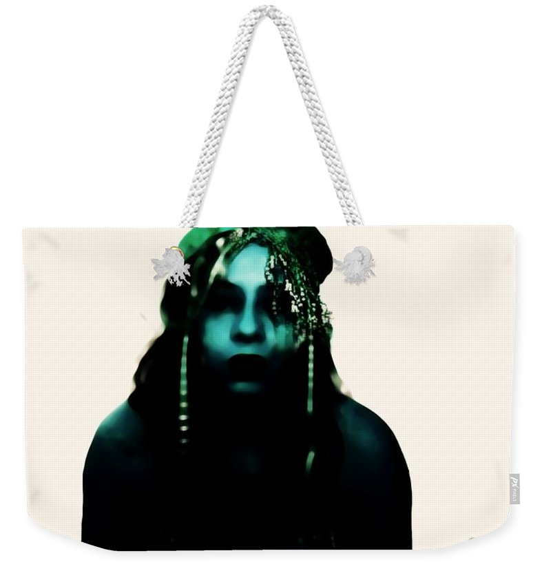 Blue Weekender Tote Bag featuring the photograph What by Jessica Shelton