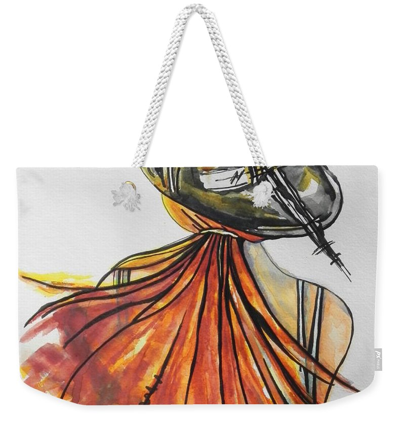 Watercolor Painting Weekender Tote Bag featuring the painting What Lies Ahead Series I Found Me by Chrisann Ellis
